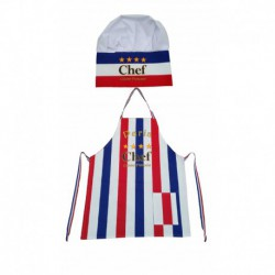 Tablier + Toque Le Chef tricolor