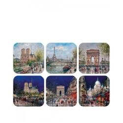 Peinture Paris monuments nuit