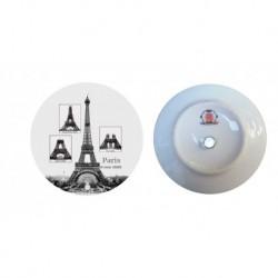 Tour Eiffel construction noir et blanc