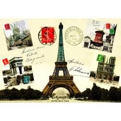 Tour Eiffel + Monuments de Paris timbres