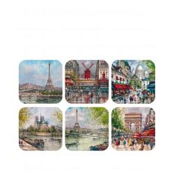 Paris Tour Eiffel + monuments peinture jour