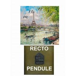 tour Eiffel bord de Seine peinture