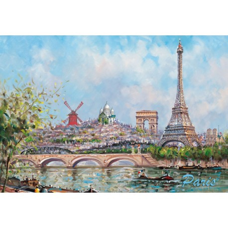 tour eiffel monuments de paris peinture souvenirs 2 paris. Black Bedroom Furniture Sets. Home Design Ideas