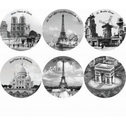 Photo de Paris noir et blanc  rond