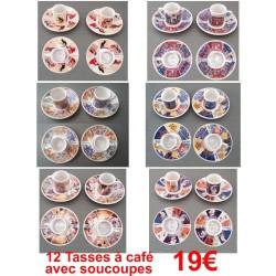 12 TASSES A CAFE