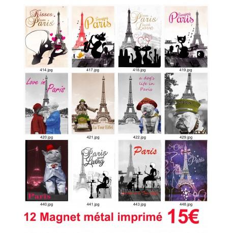 12 MAGNET AFFCHE PARIS