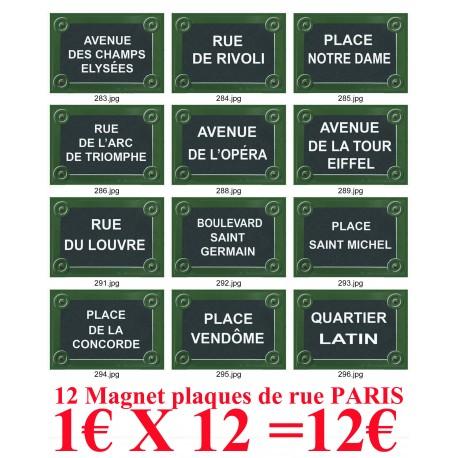 MAGNET AFFICHE PLAQUE DE RUE PARIS