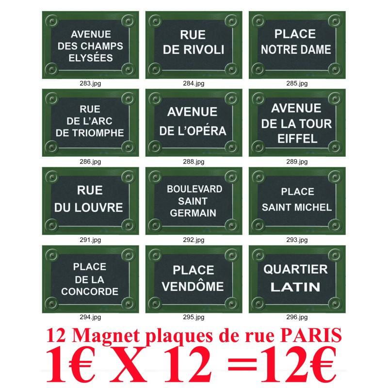 magnet affiche plaque de rue paris souvenirs 2 paris. Black Bedroom Furniture Sets. Home Design Ideas