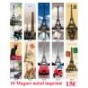 10 MAGNET PANORAMIQUE PARIS