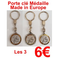 3 PORTE CLE MEDAILLE