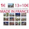 13 affichette Paris 18x24 cm