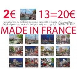 13 cartes postales peinture Paris