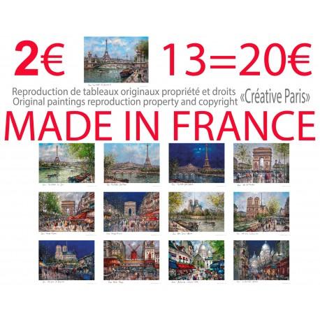13 affichette Paris 35x45 cm