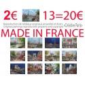 13 affichettes 35x45 peinture Paris