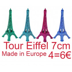 4 Tour Eiffel 07cm couleur assorties