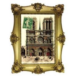Façade de Notre Dame de Paris timbre