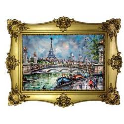Tour Eiffel pont Alexandre III peinture
