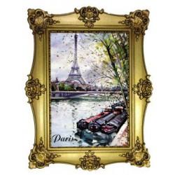 Tour Eiffel la Seine peinture