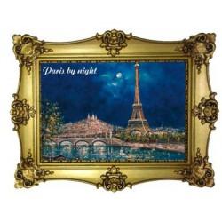 Tour Eiffel la butte Montmartre nuit
