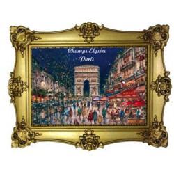 Arc de Triomphe Champs Elysées nuit peinture