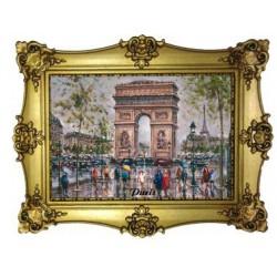 Arc de Triomphe Tour Eiffel peinture