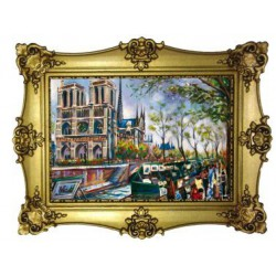 Façade de Notre Dame de Paris peinture
