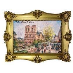 Notre Dame de Paris place Saint Michel peinture